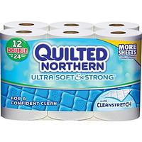 $3.99 Quilted Northern® Ultra Soft & Strong Toilet Paper, 12 Rolls/Case