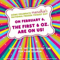 Upcoming Free Frozen Yogurt Day@ Menchie's Frozen yogurt