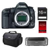 Canon 5D Mark III DSLR Camera (Body Only) with Pro 100 Printer