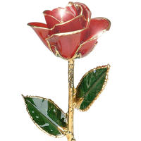 12-inch Red Rose with 24k gold trimmed