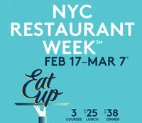 3 courses for $25 + $5 Amex Statement CreditNYC Restaurant Week
