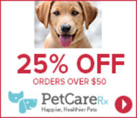 25% Off orders over $50@ PetCareRx