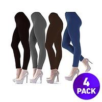 $174 Pack Of Ladies Fleece-Lined Ultra Soft Legging