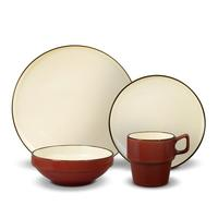 Alpine Black 16 Piece Dinnerware Set