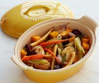 $49.95 Le Creuset Heritage Stoneware 2.5-qt. Oval Covered Casserole