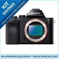 $1298 Sony Alpha a7 Mirrorless Digital Camera Full Frame 24MP, Bundle With dot OLED Viewfinder, Wi-Fi sharing