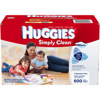 $9.37 Huggies Simply Clean Fragrance Free Baby Wipes Refill, 648 Count