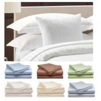 Hotel Life Deluxe 300 Thread Count 100% Cotton Sateen Sheet Set in Full, Queen & King