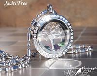 Family Tree Personalized Locket with Crystal Birthstones