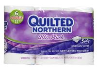 Quilted Northern Ultra Plush Double Roll Toilet Tissue 3-Ply 48 Double Rolls  @ Soap.com