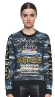KENZO Embroidered Cotton Sweatshirt in Anthracite