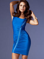 Frederick's of Hollywood Women's Draped Front Dress