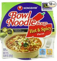 $9.33 Nongshim Hot & Spicy Noodle Bowl 12-Pack