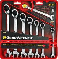 GearWrench 8-Piece Reversible Ratcheting  Wrench Set
