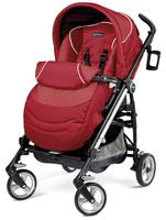 Peg Perego Switch Four Stroller, Geranium