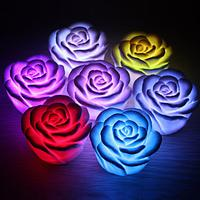 Romantic Rose Shaped 7 Colors Changing LED Night Light(3xAG13)