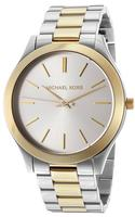 Michael Kors Women's Silver Dial Two Tone Stainless Steel Watch