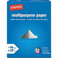 "1c Staples® Multipurpose Paper, 8 1/2"" x 11"", Ream"