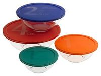 Pyrex 8 Piece Smart Essentials Bowl Set, Clear @ Amazon