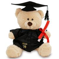 "$16.98 Dealmoon Exclusive!  Personalized 11"" Graduation Cap and Gown Teddy Bear"
