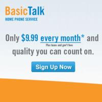 $9.99 / monthBasic Talk Home Phone Service