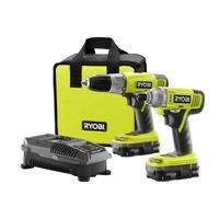 $99 Ryobi 18-Volt One Plus Lithium-Ion Drill and Impact Driver Combo Kit (2Tools combo)