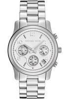 Michael Kors Women's Chronograph Silver Dial Stainless Steel Watch + $10 Gift Card MK5076
