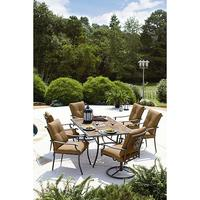 $449.99 Garden Oasis Emery 7 Piece Cushion Dining Set in Assorted Colors