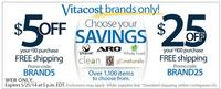 Up to $25 OffVitacost Brands @VitaCost