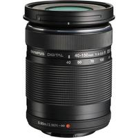 """$99.99 Olympus M. Zuiko Digital ED 40-150mm f/4-5.6""""R"""" Zoom Lens for M43 System(Black and Silver)"""