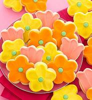 Frosted Flower Cutout Cookies