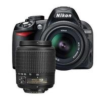 $269.99 Refurbished Nikon D3100 Camera w/18-55mm & 55-200mm DX Lenses