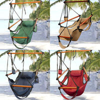 $29.95 Hammock Hanging Chair Air Deluxe Sky Swing Outdoor Chair Solid Wood 250lb