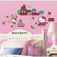 $9.97 Hello Kitty The World of Hello Kitty Peel and Stick Wall Decals