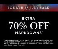 Extra 70% OFF4th of July Sale @ PacSun