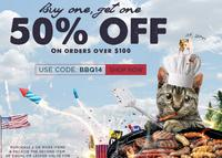 Buy 1 Get 1 50% Offon orders over $100 @ Karmaloop