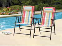 $60 Mainstays Bungee Chairs, Set of 2, Multiple Colors