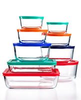 $19.99 Pyrex 18 Piece Simply Store Set with Colored Lids