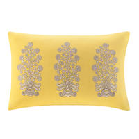 Paros Oblong Pillow w/ Floral Embroidery