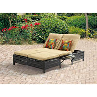 $199 Mainstays Double Chaise Lounger, Tan, Seats 2