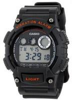 Casio W735H-8AVCF Men's Digital Vibration Alarm Black/Red Accents Watch @ MChrono