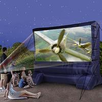 Gemmy 12 ft. Inflatable Diagonal Widescreen Airblown Deluxe Outdoor Movie Screen