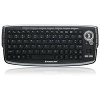 Iogear 2.4GHz Wireless Compact Keyboard with Optical Trackball and Scroll Wheel - Refurbished (Z-GKM681R)