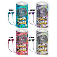 3 Pack of Maxell Juicy Tunes Stereo Earbuds Headphones