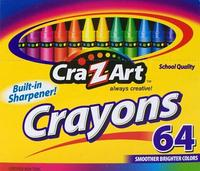 $0.67 Cra-Z-art Crayons, 64 Count (10202)