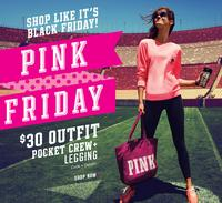 Free Tote & Tumbler + $30 OutfitOf Pink Black Friday Sale @ Victorias Secret