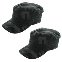 2-Pack of Totes Isotoner Military Style Camouflage Cadet Cap - 100% Cotton