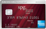 Starpoints® bonus: Earn up to 25,000 bonus points Starwood Preferred Guest® Business Credit Card from American Express