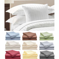 $17.99 + Free Shipping Hotel Deluxe 100% Cotton Sateen Bed Sheet Set (4- Piece Set)