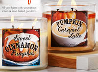 2 for $22+ $10 off $303-Wick Candles @ Bath & Body Works